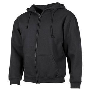 Mikina s kapucí PRO COMPANY na zip ÈERNÁ