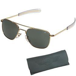 Brýle pilotní US AIR FORCE originál 52mm polarizované ZLATÉ