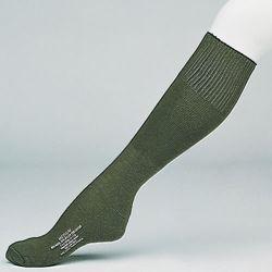 Ponožky podkolenky US froté  ZELENÉ