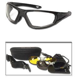 Brýle taktické 3v1 ÈERNÉ