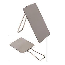 Zrcátko kovové nerozbitné se stojánkem