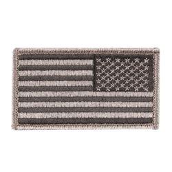 Nášivka US vlajka reverzní ÈERNÁ 5 x 7,5 cm