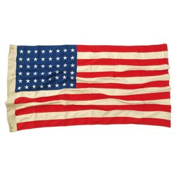 Vlajka USA 48 WWII hvìzd VINTAGE bavlna vyšívaná 90x150 cm
