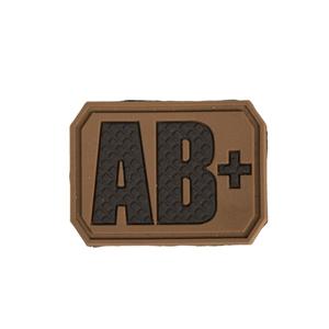 Nášivka plast 3D na suchém zipu krevní skupina AB  COYOTE