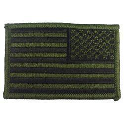 Nášivka US vlajka reverzní 5 x 7,5 cm ZELENO-ÈERNÁ