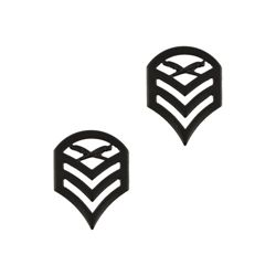 Odznak hodnostní USMC - SSgt. - ÈERNÝ