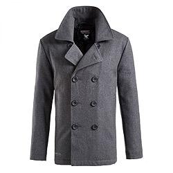 Kabát PEA COAT ANTHRAZIT