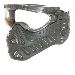 Maska ochranná PAINTBALL / AIRSOFT LED ZELENÁ
