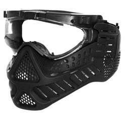 Maska ochranná PAINTBALL / AIRSOFT LED ÈERNÁ