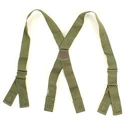 Kšandy kalhotové US M43 ZELENÉ použité orig.