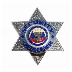 Odznak SECURITY OFFICER / HVÌZDA/ STØÍBRNÁ