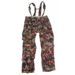Kalhoty polní švýcarské se šlemi SCHWEIZ TARN použité (pas 90cm)
