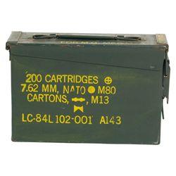 Bedna na munici kovová malá CAL.30 použitá