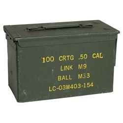 Bedna na munici US CAL.50 kovová støední použitá