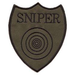 Nášivka SNIPER s terèem - OLIV