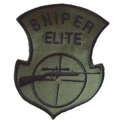Nášivka SNIPER ELITE s odstøelovací puškou OLIV