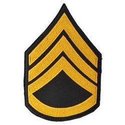 Nášivka US hodnost STAFF SERGEANT - ZLATÁ