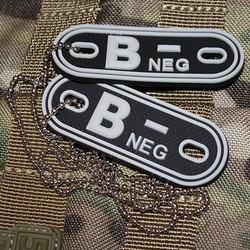 Známky krevní skupina B NEG ÈERNÁ plast