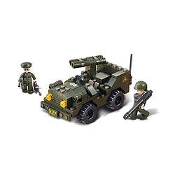 Stavebnice ARMY JEEP s dvouhlavòovým dìlem   2 figurky
