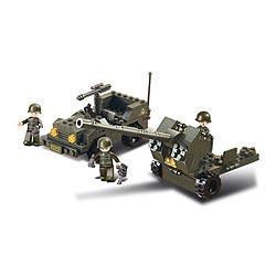 Stavebnice ARMY JEEP a protiletedlový kanón