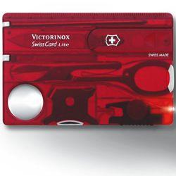Karta SwissCard LITE ÈERVENÁ transparentní