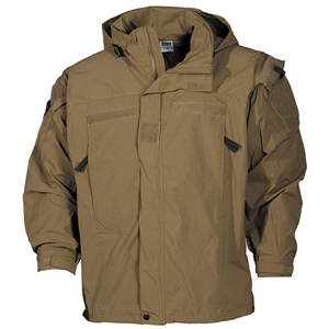Bunda US softshell LEVEL 5 COYOTE BROWN