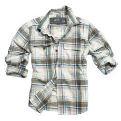 Košile WOODCUTTER s dlouhým rukávem HNÌDÁ