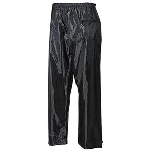 Kalhoty nepromokavé polyester s PVC ÈERNÉ
