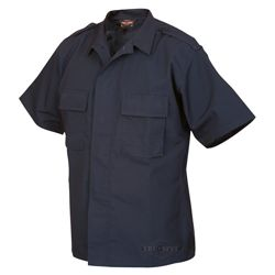Košile služební krátký rukáv rip-stop MODRÁ