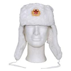 Beranice / Uschanka ruská se znakem BÍLÁ
