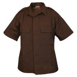 Košile služební krátký rukáv rip-stop HNÌDÁ