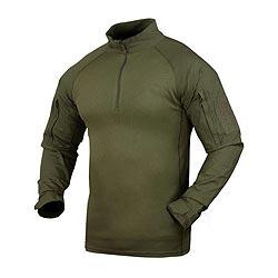 Košile taktická COMBAT se zipem ZELENÁ