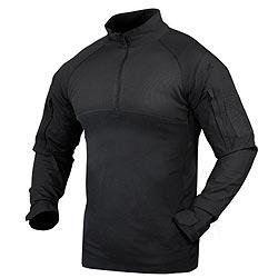 Košile taktická COMBAT se zipem ÈERNÁ