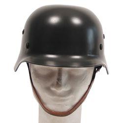 Helma ocelová WWII s koženým vnitøkem ZELENÁ