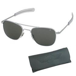 Brýle pilotní US AIR FORCE originál 57mm MATNÝ CHROM