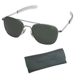 Brýle pilotní US AIR FORCE originál 52mm polarizované CHROME