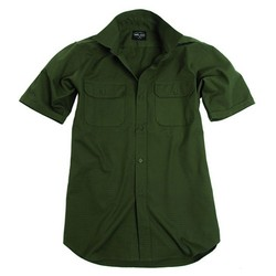 Košile krátký rukáv RIP-STOP ZELENÁ
