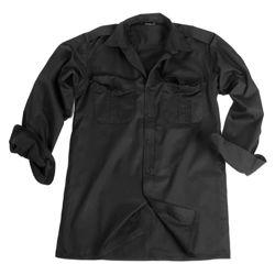 Košile SERVIS dlouhý rukáv na knoflíky ÈERNÁ