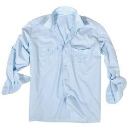 Košile SERVIS dlouhý rukáv na  knoflíky SVÌTLE MODRÁ