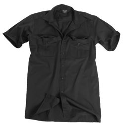 Košile SERVIS krátký rukáv na  knoflíky ÈERNÁ