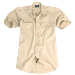 Košile TROPICAL krátký rukáv na knoflíky KHAKI