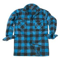 Košile DØEVORUBECKÁ na knoflíky MODROÈERNÁ
