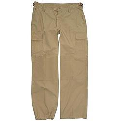 Kalhoty dámské US BDU rip-stop pøedeprané KHAKI