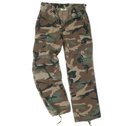 Kalhoty dámské US BDU rip-stop pøedeprané WOODLAND