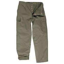 Kalhoty BW typ moleskin zateplené ZELENÉ