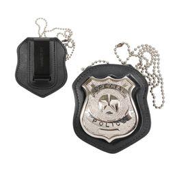 Pouzdro na odznak NYPD s klipem KÙŽE