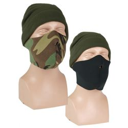 Maska oblièejová (polomaska) NEOPREN 3mm ÈERNÁ-WOODLAND