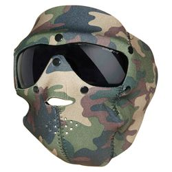 Maska celooblièejová BASIC NEOPREN s brýlemi WOODLAND