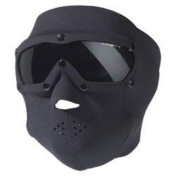 Maska s br�lemi SWAT PRO neopren �ERN�