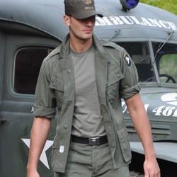 Blùza M64 VIETNAM šikmé kapsy ZELENÁ